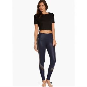 Women's Alo Yoga Leggings Navy Size Small
